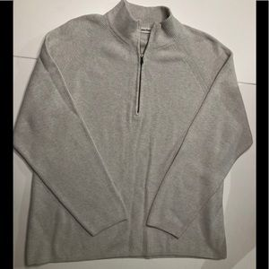 EUC Mens Beige Calvin Klein ribbed sweater